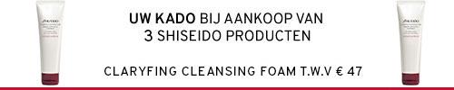 Kado bij aankoop van 3 shiseido producten