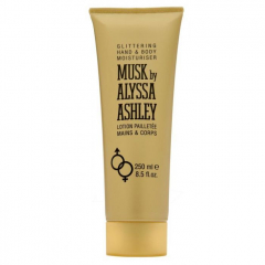 Musk by Alyssa Ashley glittering hand & bodylotion